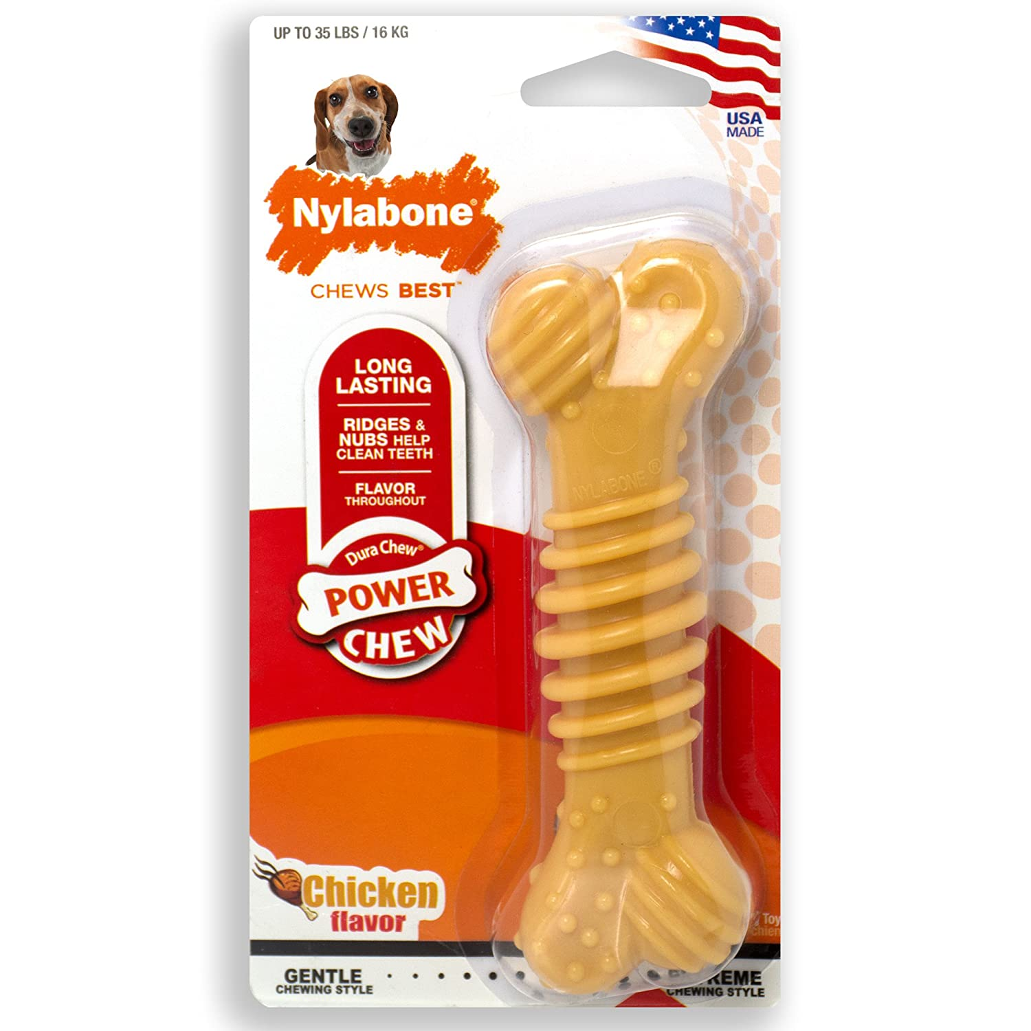 Amazon Nylabone Dura Chew Wolf Chicken Flavored Bone Dog