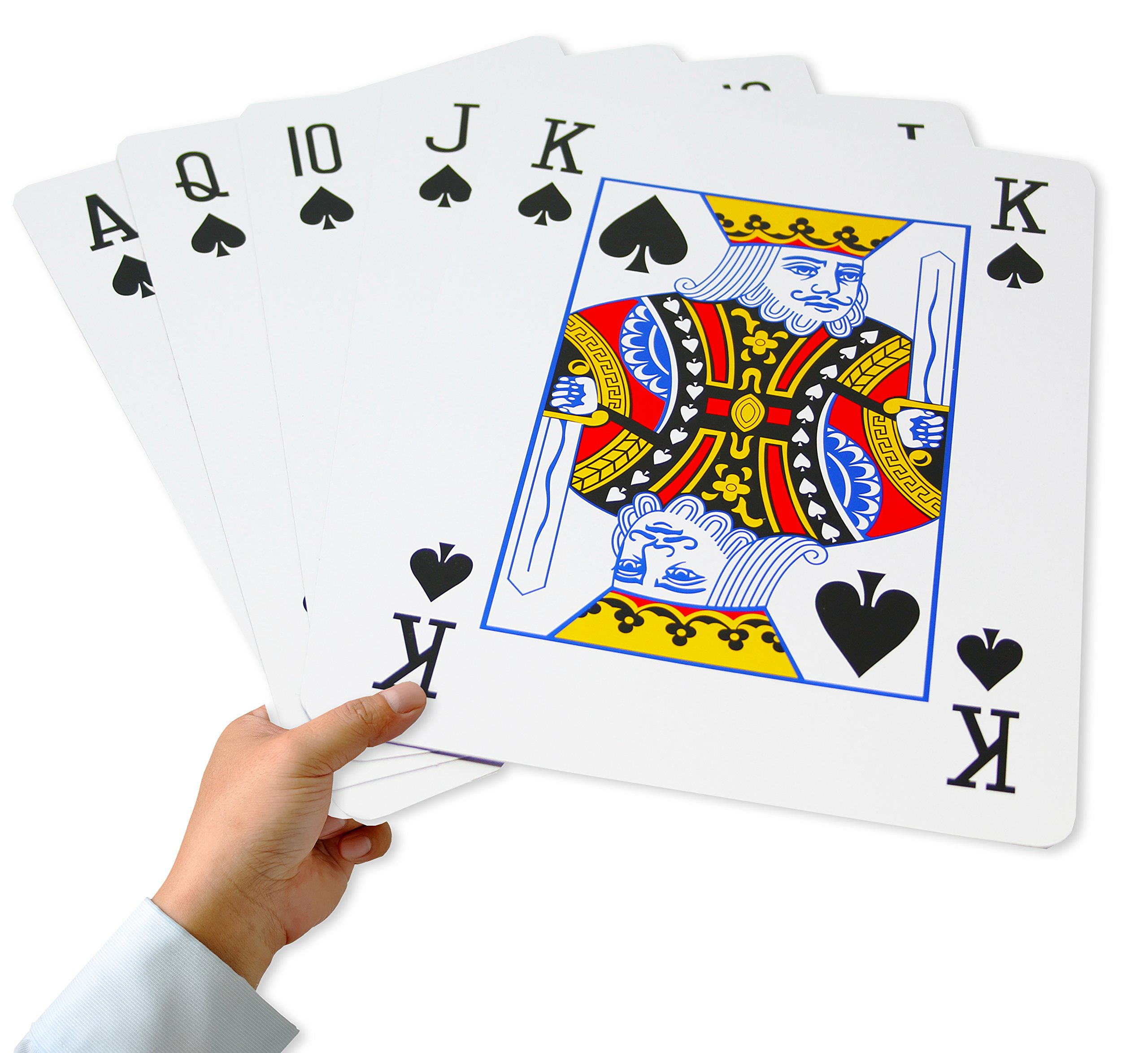 Super Giant Jumbo Playing Cards, Full Deck of 8 x 11 Inch Humongous Playing Cards