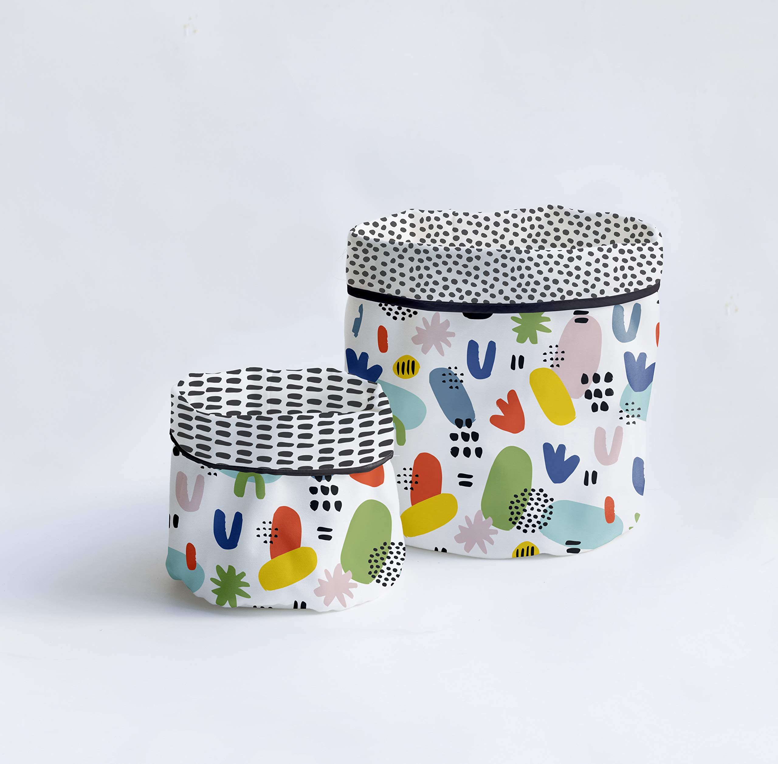 Dear Bestiario Naif Set Baskets, Teflonised Textile, Printed, 19.27 cm, 2