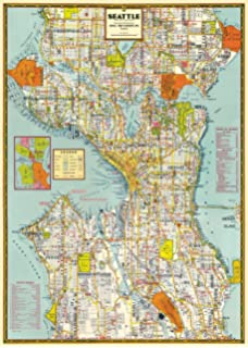 graphic about Printable Map of Seattle known as : Seattle Neighborhoods Map Artwork Poster, Gray