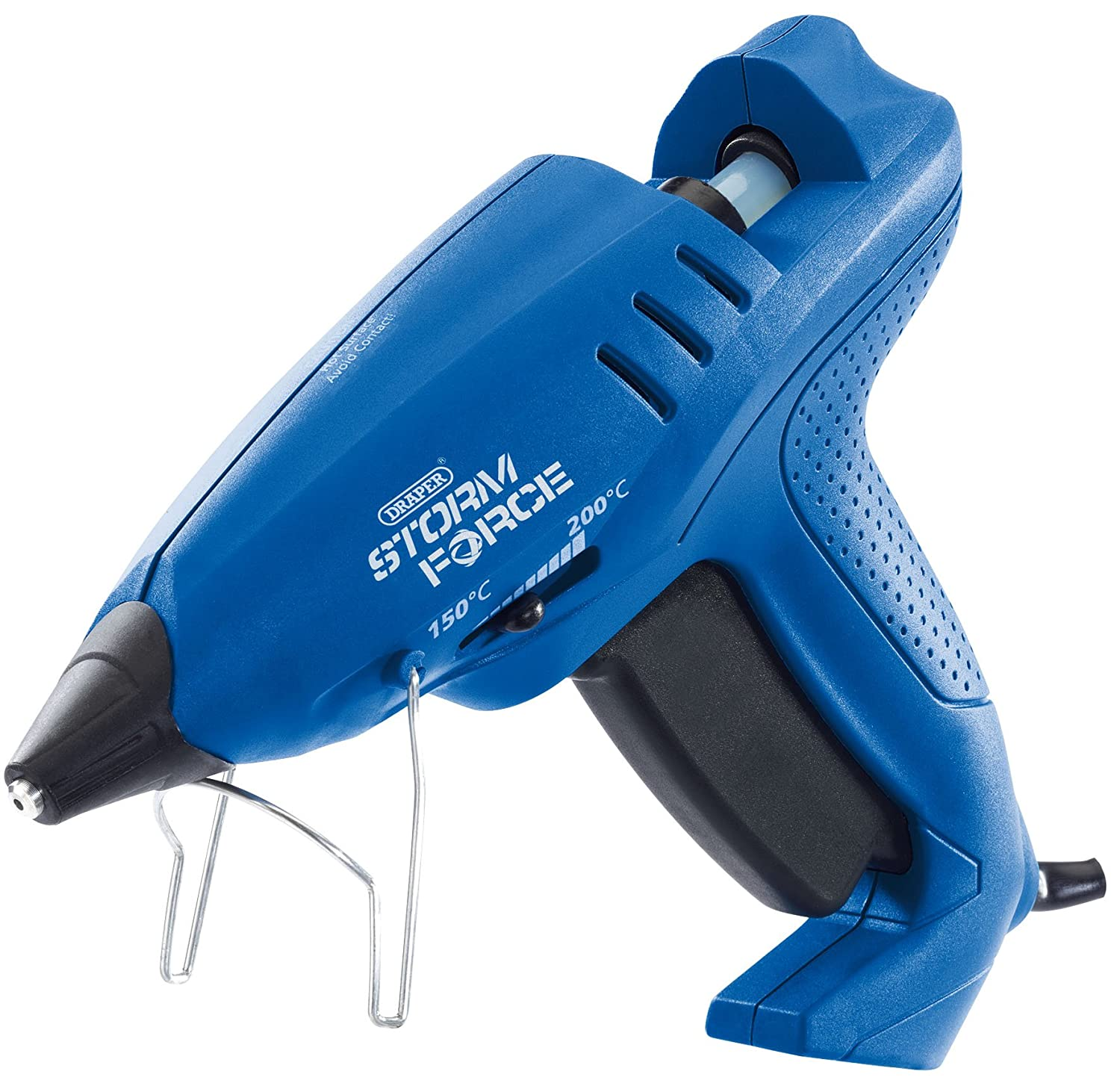 Draper 83661 Storm Force Variable Heiß Klebepistole mit 6 Klebestifte, 600 W, 400 V, blau