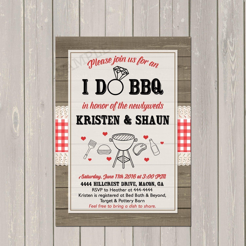 Amazoncom I Do Bbq Invitation Couples Wedding Shower Barbecue