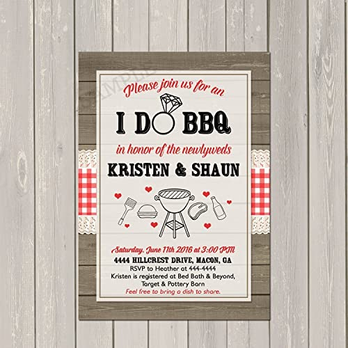 i do bbq invitation couples wedding shower barbecue invitation engagement party bbq invite