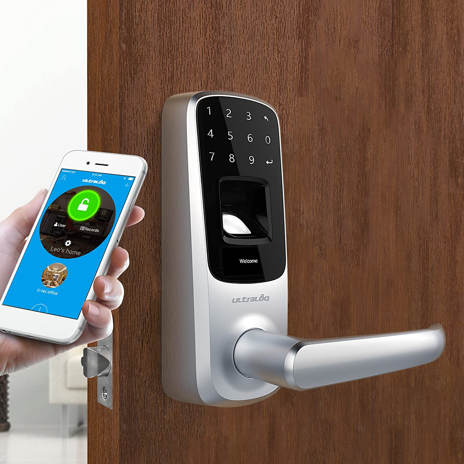 Image result for Ultraloq UL3 Bluetooth Fingerprint and Touchscreen Smart Lock