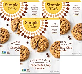 product image for Simple Mills Almond Flour Baking Mix, Gluten Free Chocolate Chip Cookie Dough Mix, Made with whole foods, 3 Count (Packaging May Vary)