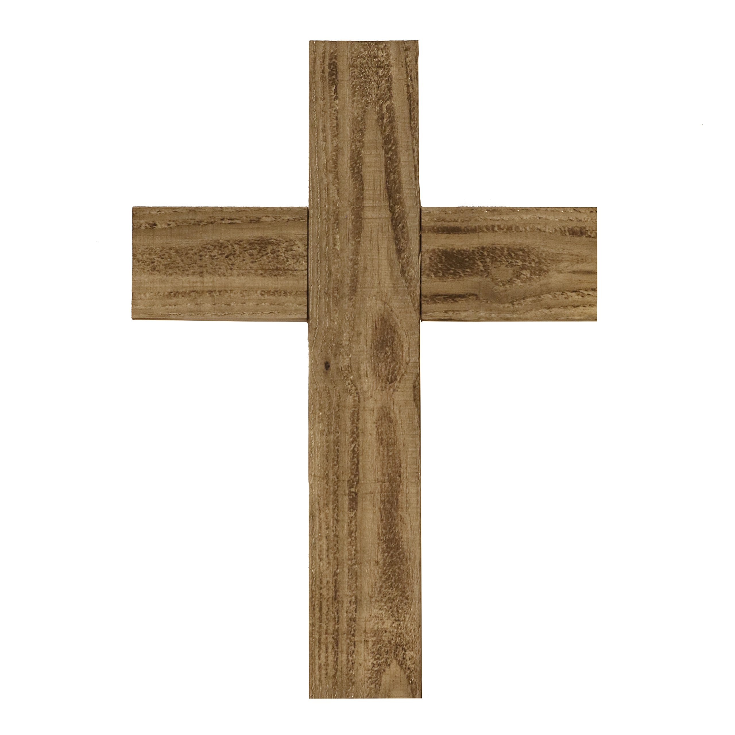 Ekena Millwork DECR020X036X1500CRSUF Vintage Farmhouse Cross Decor Collection, 20'' W x 36'' H x 1 1/2'' D, Natural Barnwood