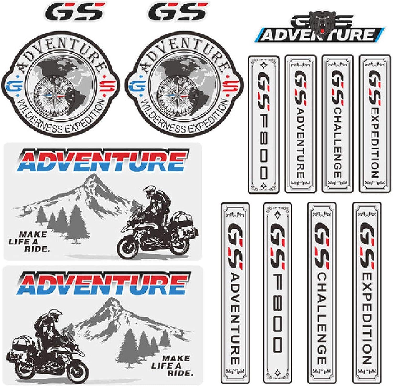 CFHMLK para BMW F800GS F800, Cajas Laterales traseras para Motocicleta, Maletas, Equipaje, Pegatinas de Aluminio, calcomanías ADV GS Adventure