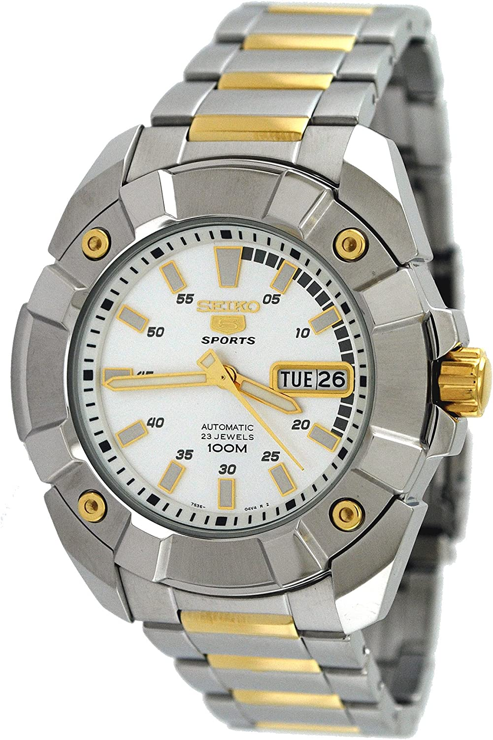 Seiko Men s SNZG27 5 Series Two Tone Automatic Watch