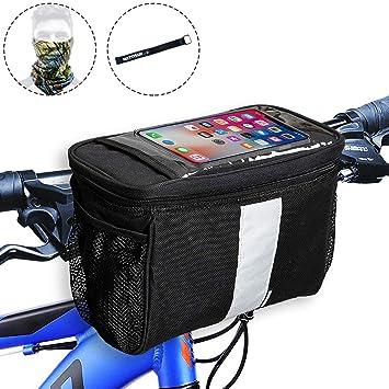 Amazon.com: Bolsa para manillar de bicicleta, cesta para ...