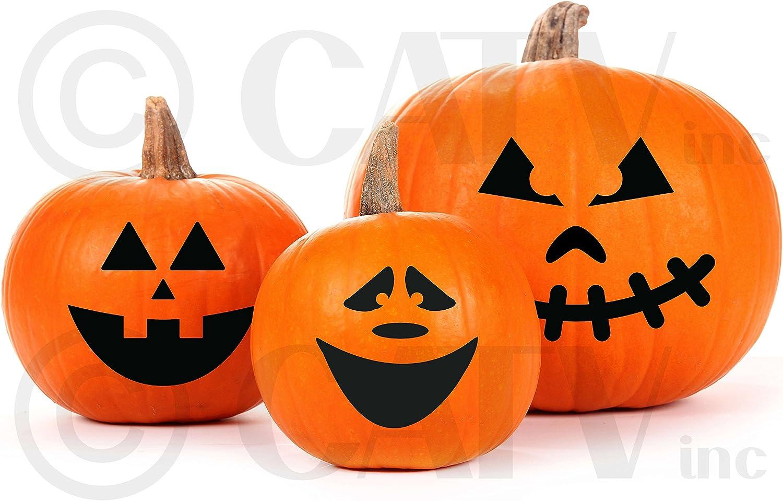 Amazon Com Halloween Pumpkin Face Carving Vinyl Decorating Kit Home Kitchen