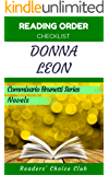 Reading order checklist: Donna Leon - Series read order:  Commisario Brunetti Series, Novels (English Edition)