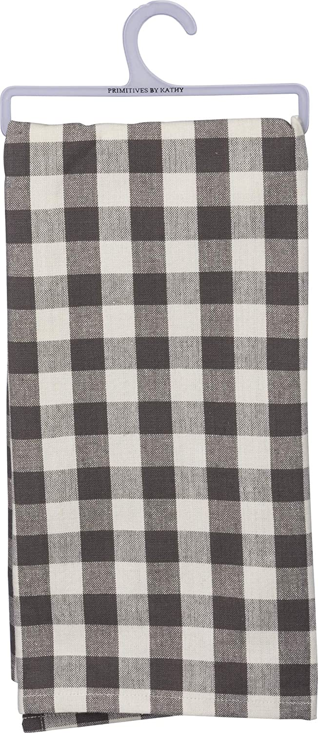 Primitives by Kathy 39797 Rustic Dish Towel, 20 x 28-Inches, Small Buffalo Check