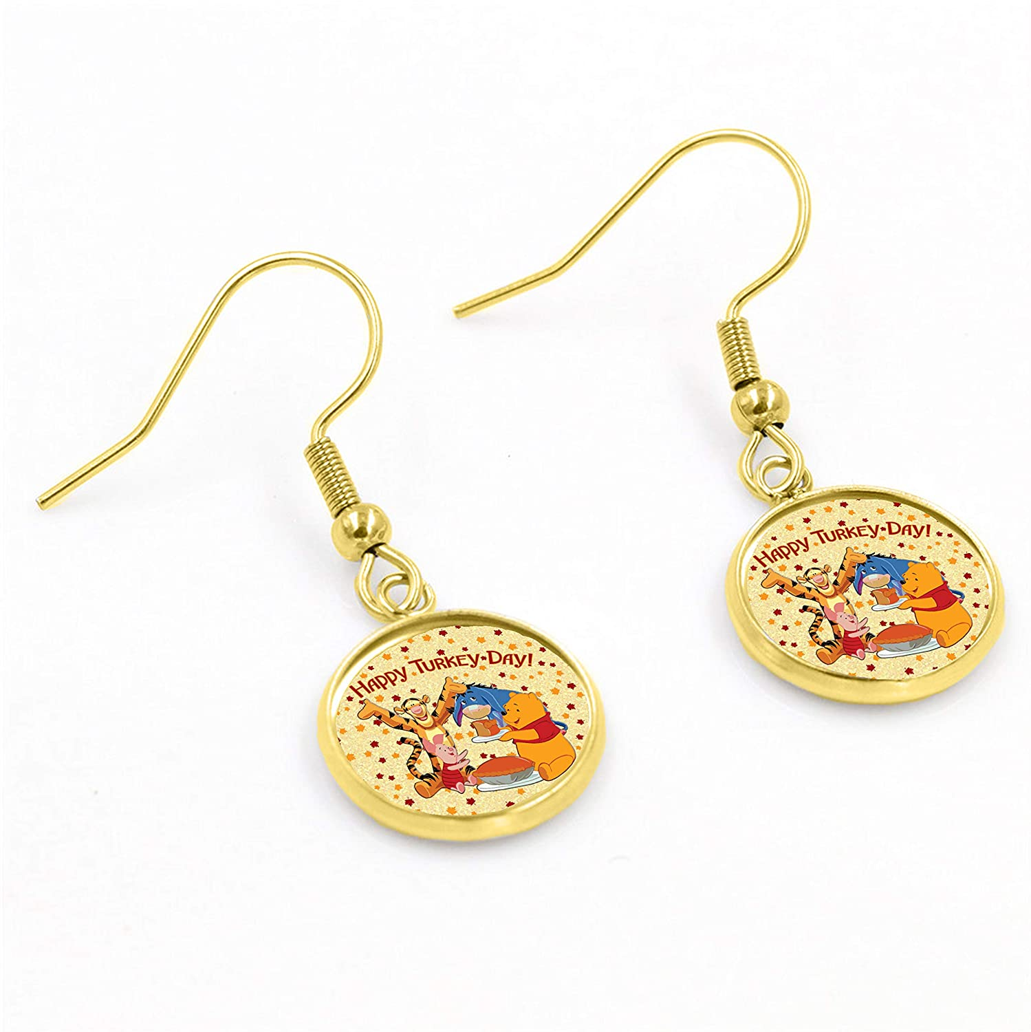 Enigma Design Company Pooh Holiday Earrings Valentines Day