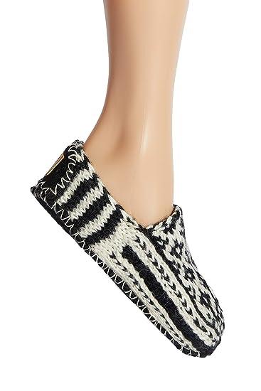 1c5dc6210ce53 Tibetan Socks Hand Knit Wool Fleece Lined Bootie Slippers