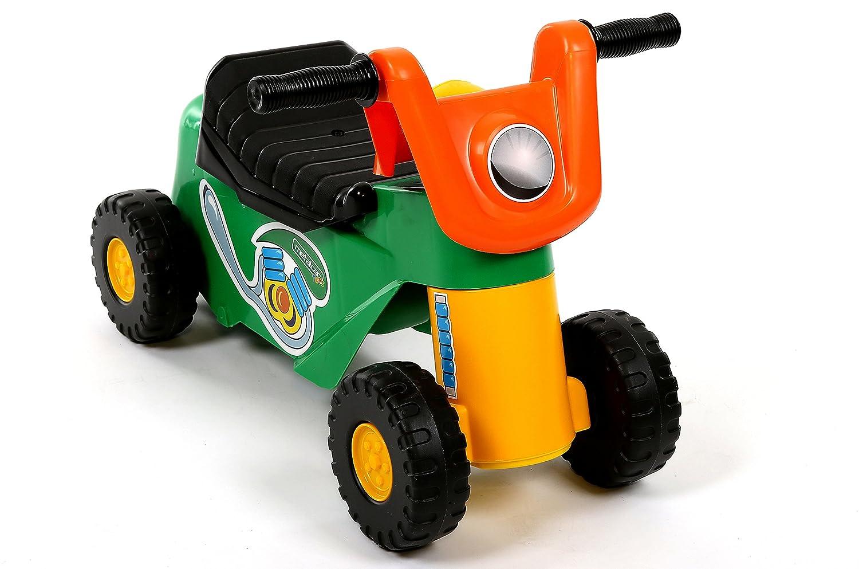 Rutscherfahrzeug Laufrad mit 4 Rädern Motorrad ab 1 Jahr Rutschauto mit Hupe und Stauraum Kindy