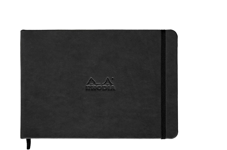 Rhodia - 118048C - Webnotebook - 192 feuillets - couverture rigide en simili cuir italien - Dot - A5 - Orange C Rhodia Bloc de bureau Techniques artistiques