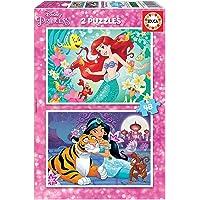 Educa Ariel y Jasmin Puzzles, 2x48 Piezas, multicolor (18213)