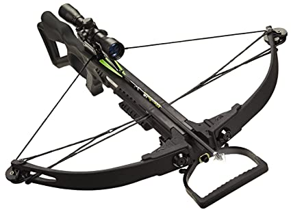 Carbon Express 20271 X-Force 350 Crossbow Kit (Rope Cocker, 3 Arrow Quiver,  3 Crossbolts, Rail Lubricant, 3 Practice Points, 4x32 Scope), Black