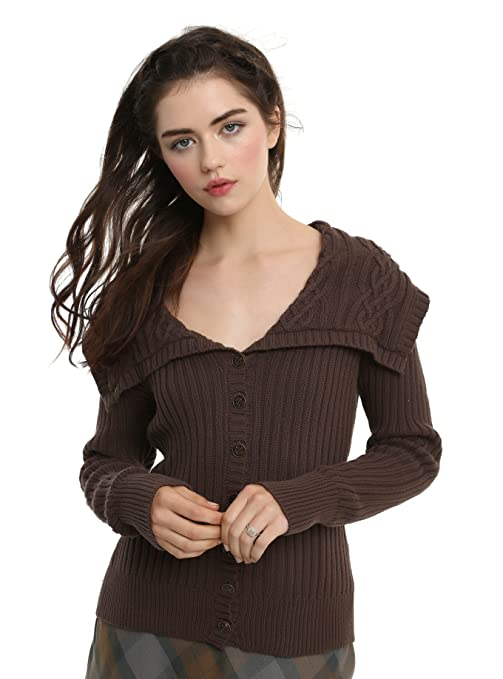 1940s Sweater Styles Outlander Foldover Cardigan $98.50 AT vintagedancer.com