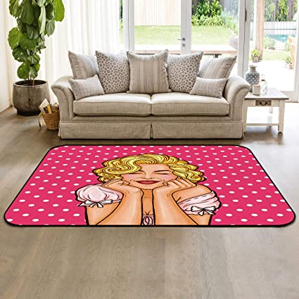 Marilyn Monroe Area Rug 4 X6 Non Slip Rubber Backing Living Room Sofa Floor Carpets Indoor Throw Runner Rugs Sexy Woman Classic Pose Famous Star Portrait Amazon Co Uk Kitchen Home