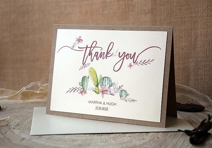 amazon com cactus wedding thank you notes succulents thank you
