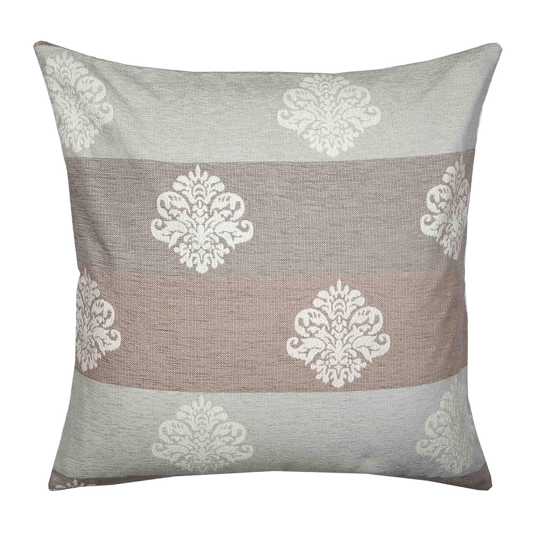 Throw Pillow Cover Duomo 16x16 Light Gray Madura Decorative Pillow