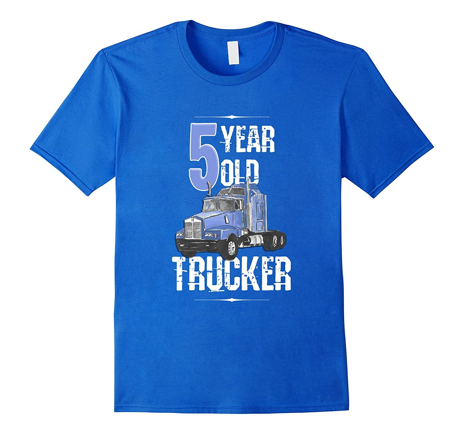 5th Birthday Shirt 5 Boy Year Old Kids Toddler Truck T CL