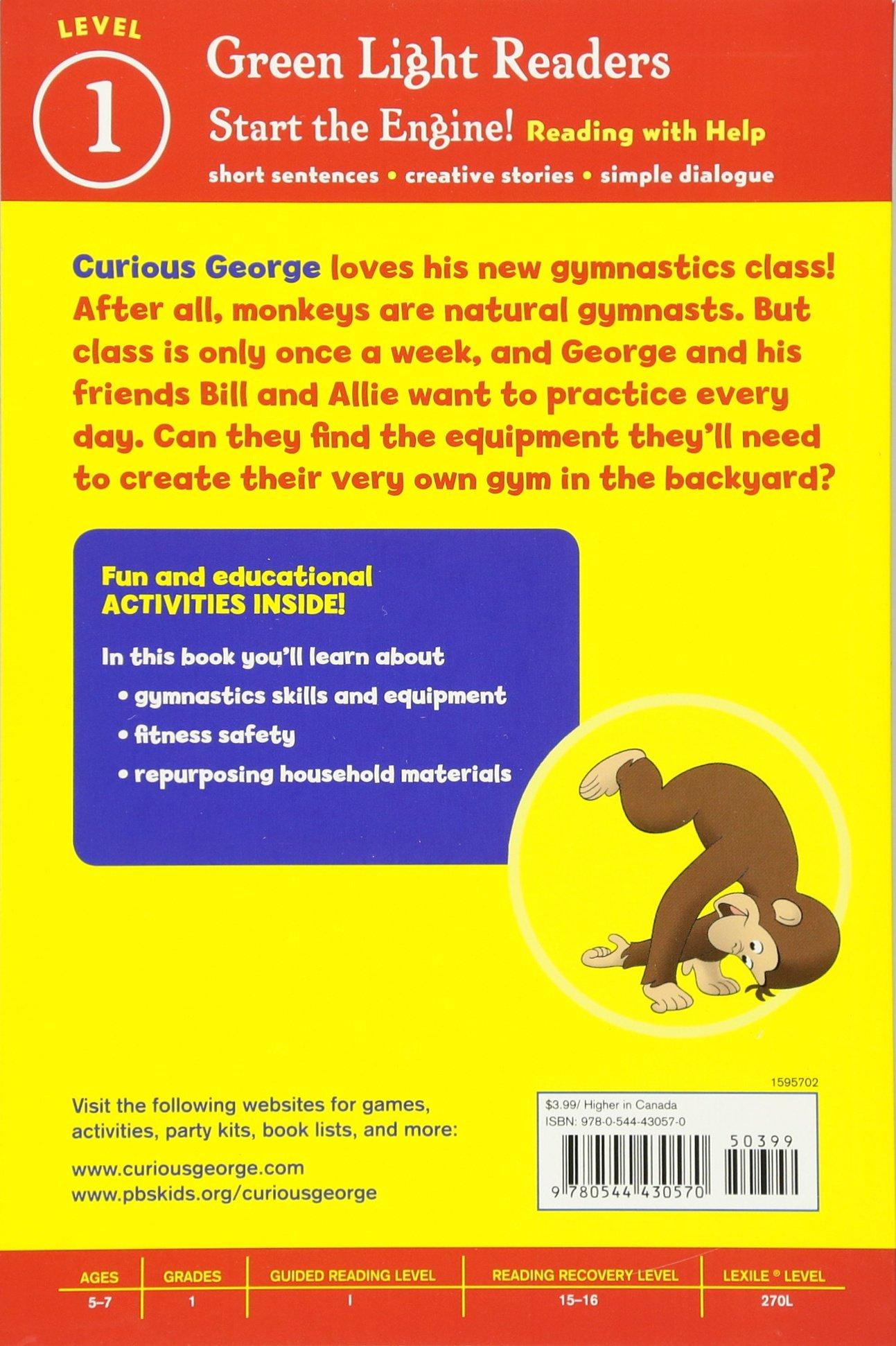 curious george gymnastics fun cgtv reader h a rey