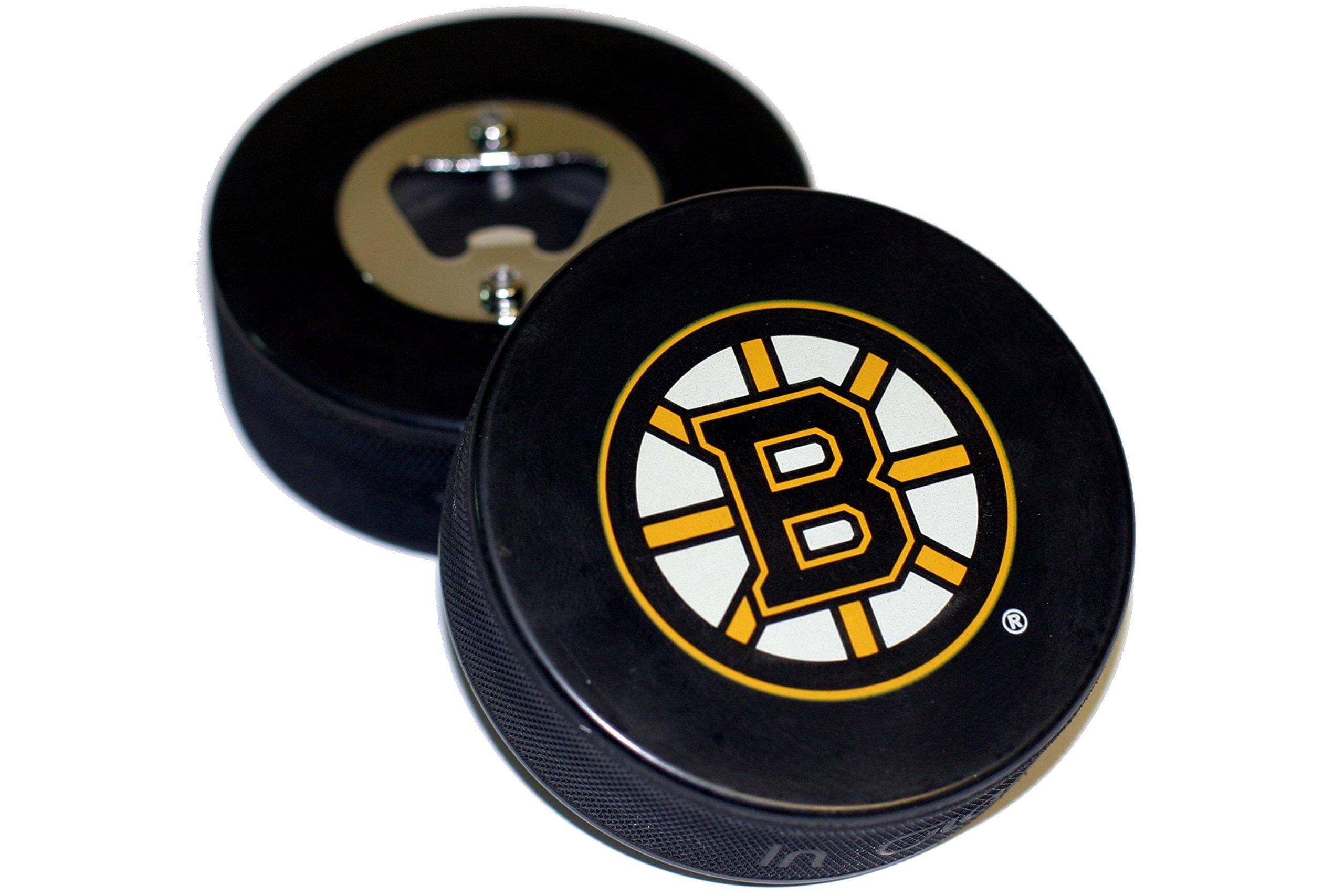 Boston Bruins Basic Logo Hockey NHL Puck Bottle Opener