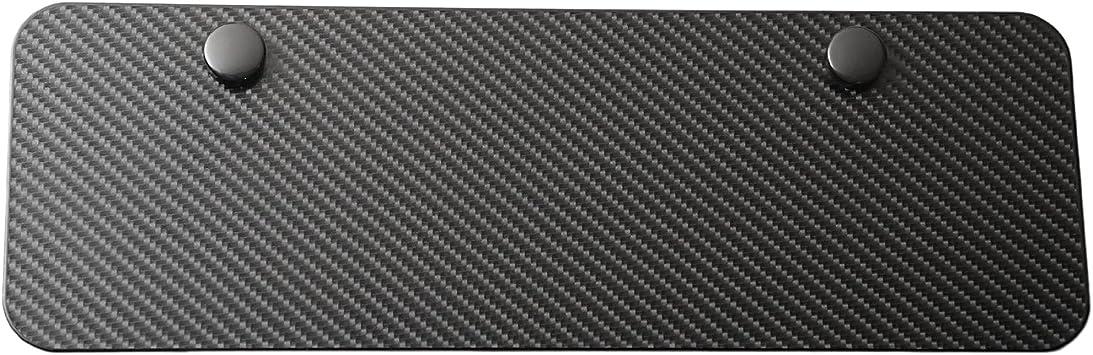 Blank Half-size Metal Black License Plate