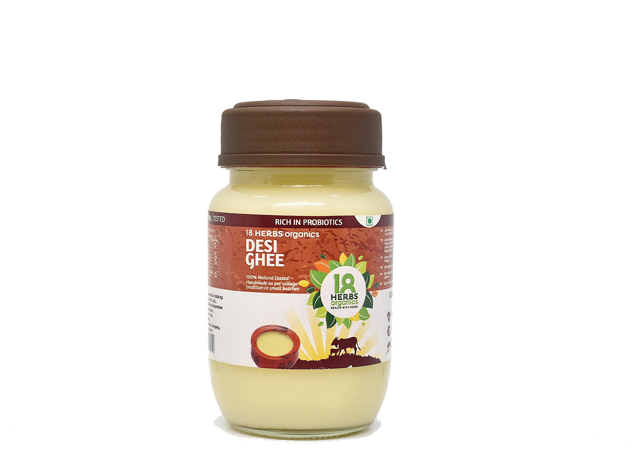 18 Herbs Organics - A2 Desi Cow Ghee - Probiotic Rich - Traditionally Made - Handmade Cow Ghee - 200 ml (B07FM2RGYT) Amazon Price History, Amazon Price Tracker