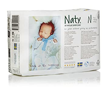 Branded Naty, ECO By Naty Diapers, Newborn, 26 Diapers , - Branded Diapers