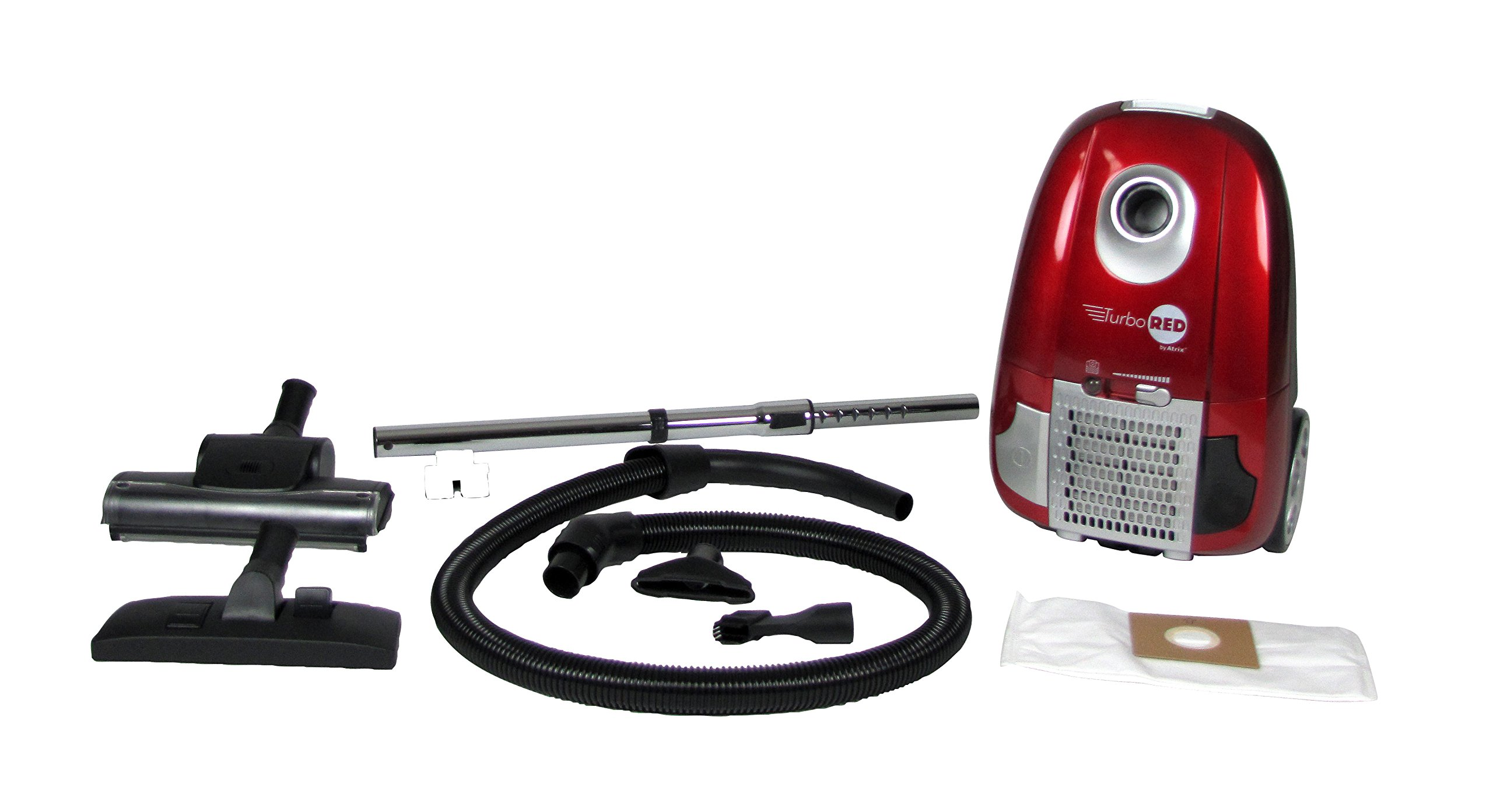 Atrix - Turbo Red HC1-AMZ Canister Vacuum with 6 Quart HEPA filter and Variable Speed by Atrix