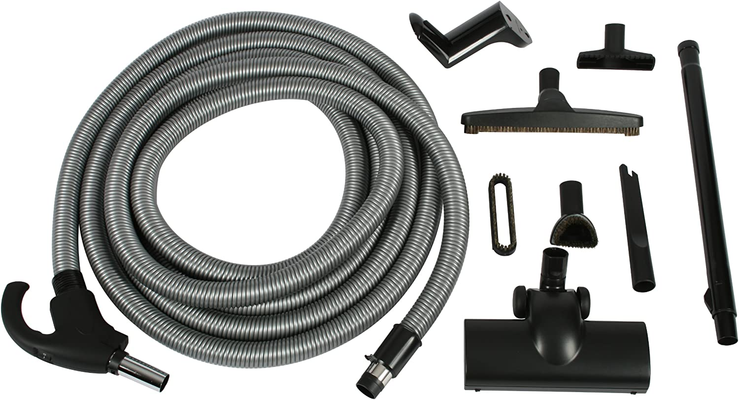 Central Vacuum Electric Hose for Beam Hayden most brands 30ft Gray Pump Handle