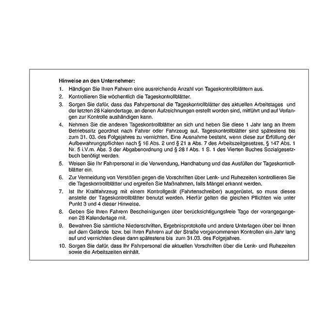 Persönliches Kontrollbuch DIN A5 quer Tageskontrollblätter Fahrtenkontrollbuch