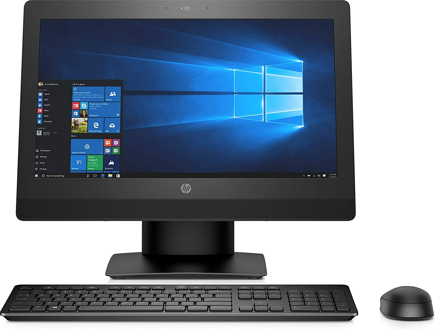 "HP 2RX49UT#ABA Proone 400 G3 20"" All-in-One Pc, 4 GB Ram, 500 GB HDD, Intel HD Graphics, Black (Certified Refurbished)"