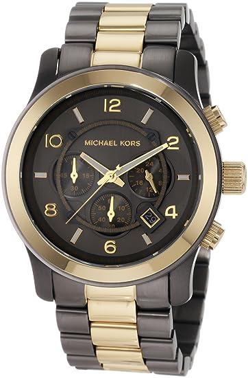 3bcbe3d791c4 Michael Kors Men s MK8160 Two-Tone Gunmetal Oversize Runway Watch  Michael  Kors  Amazon.ca  Watches