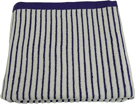Amazon Co Jp Imabari Towel Rayure Cotton Half Blanket Navy Home Kitchen