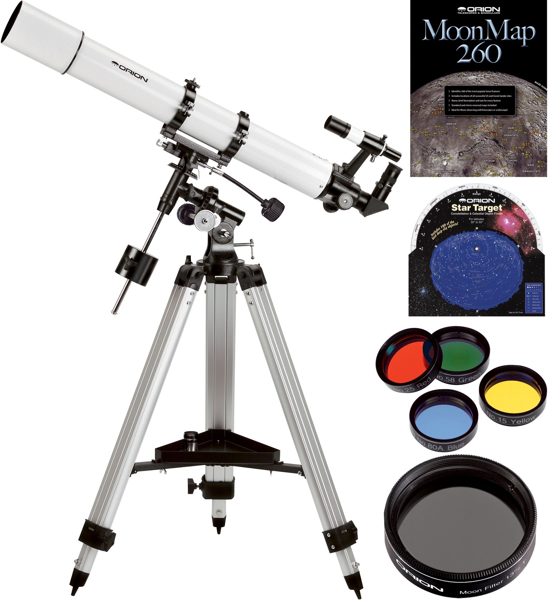 Orion AstroView 90mm EQ Refractor Telescope Kit by Orion