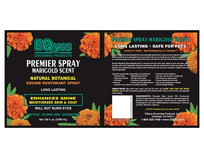 EQyss Premier Spray Marigold Scent 128 oz by Eqyss: Amazon.es: Productos para mascotas