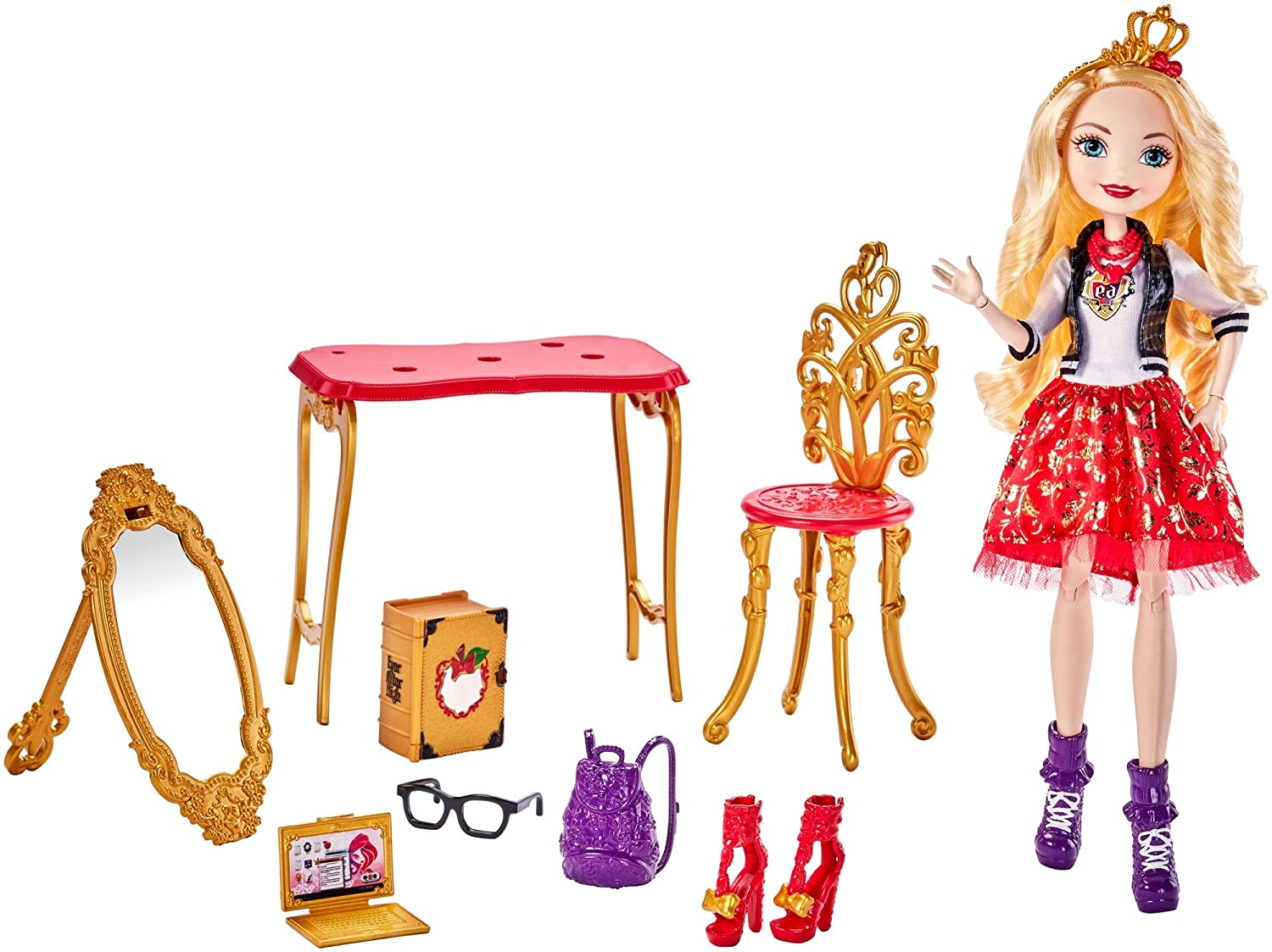 Awe Inspiring Ever After High Apple White Room To Study Doll Machost Co Dining Chair Design Ideas Machostcouk