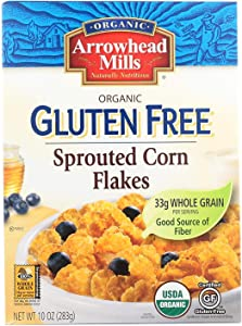 Organic Gluten Free Cereal; Sprouted Corn Flakes , Pack of 6