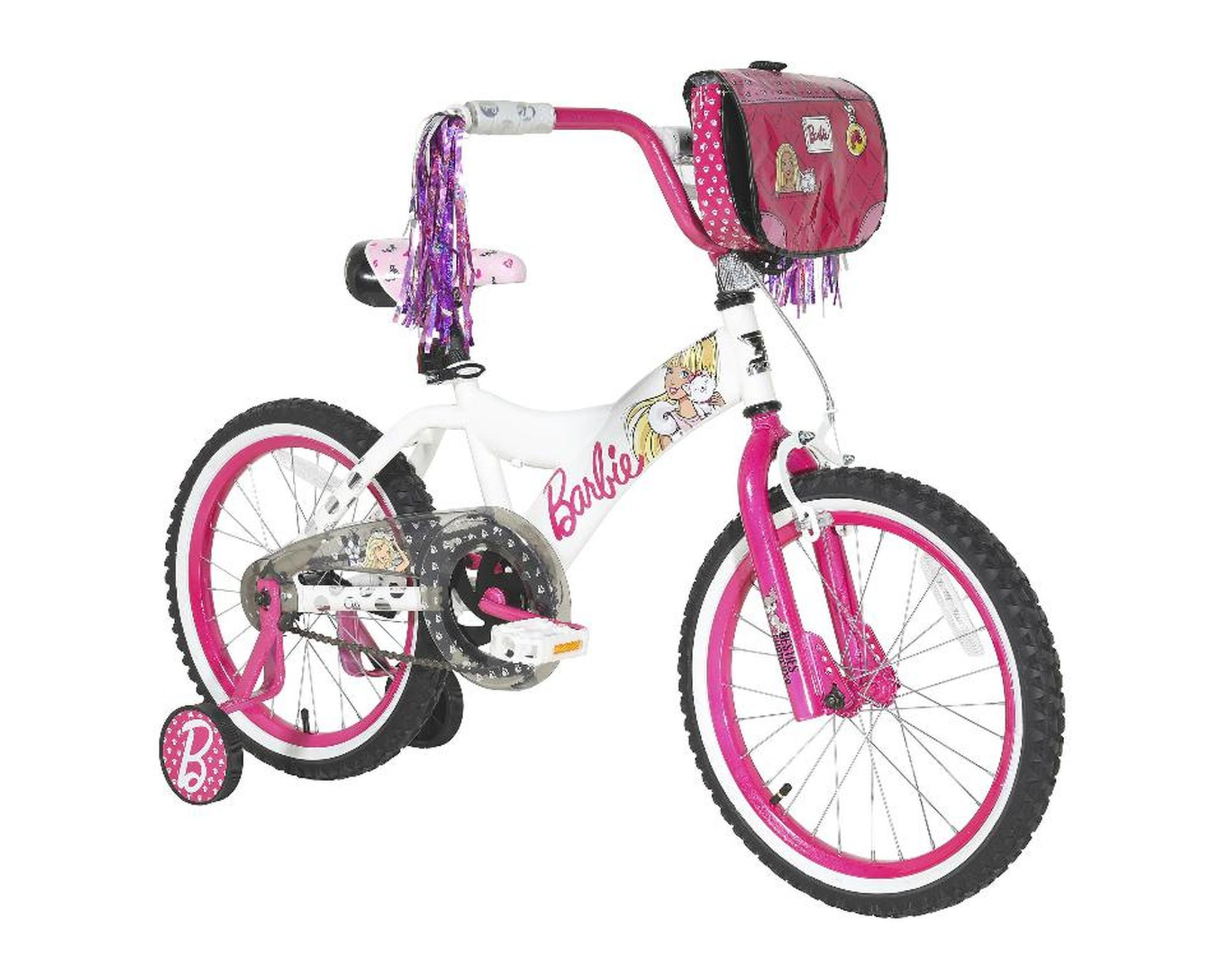 Girls 18 inch Dynacraft Barbie Bike