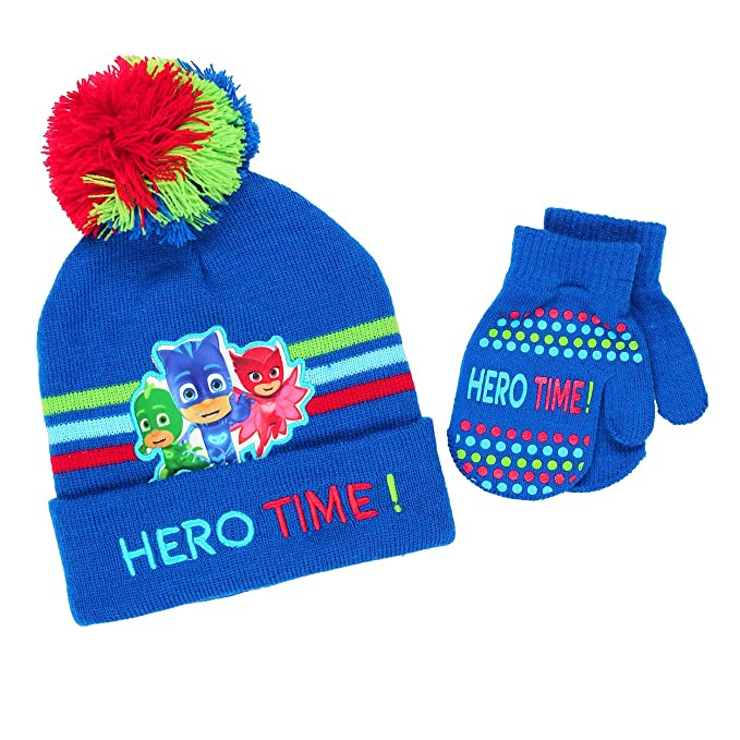35f6fe0a15ac2 Amazon.com  PJ Masks Boys Hat and Mittens Set (One Size