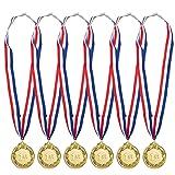 Juvale 6-Pack Gold 1st Place Award Medal Set