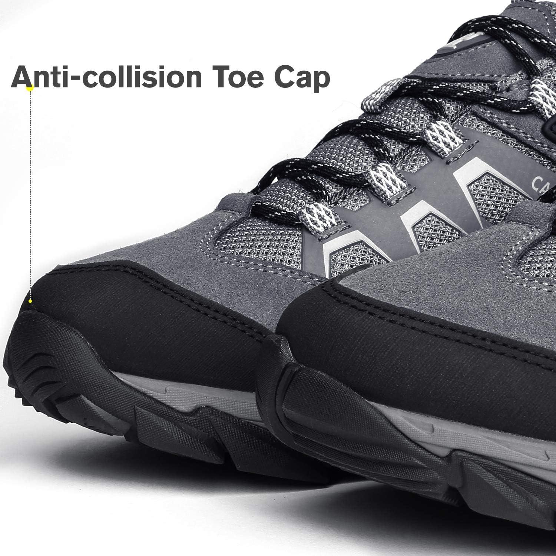 CAMEL CROWN Zapatos de Senderismo para Hombres Antideslizantes ...