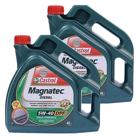 Aceite para motor diésel Castrol Magnatec 5W-40 DPF 31783296, dos de 4 l