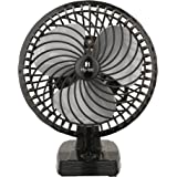 Hy-tec Copper Mist Air Wall/Table Fan with Powerful High 3 Speed Moto (Black, 225mm)