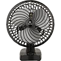 H Hy-tec Copper Mist Air Wall/Table Fan with Powerful High 3 Speed Moto, 225 mm (Black)