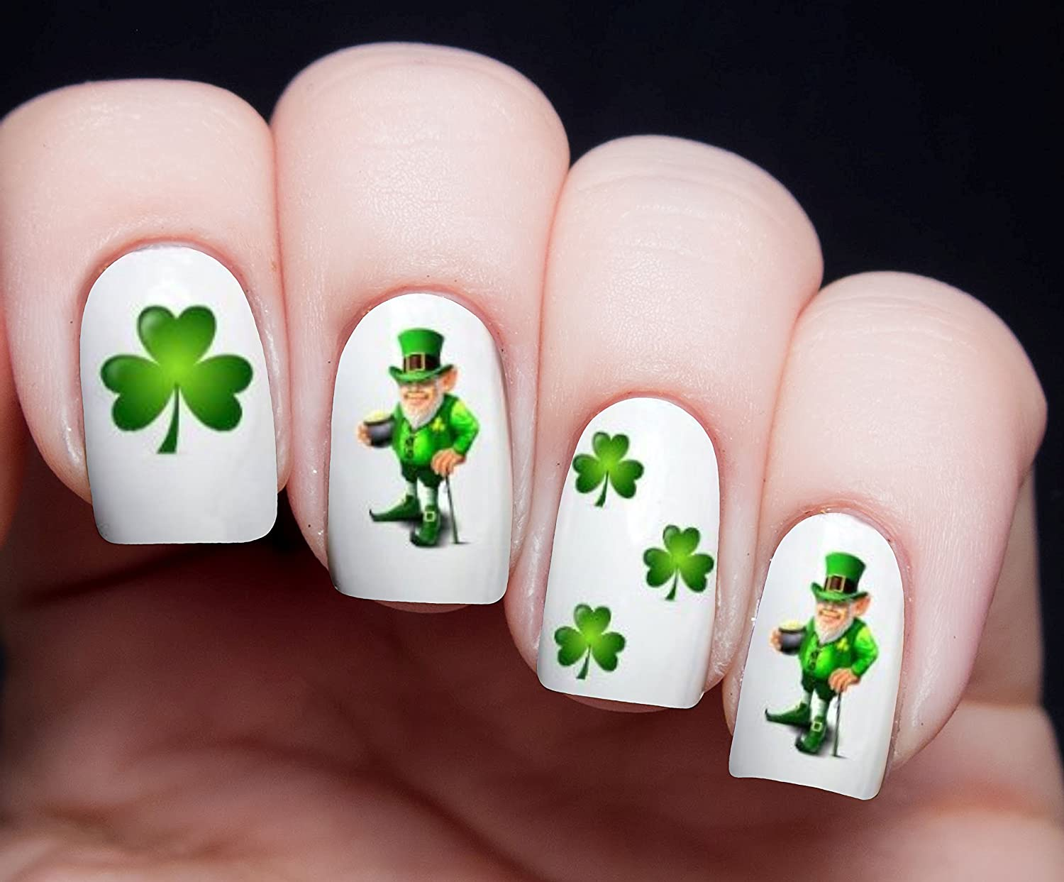 Amazon.com: LEPRECHAUN ST. PATRICKS IRISH Nail Art Transfer Decal ...